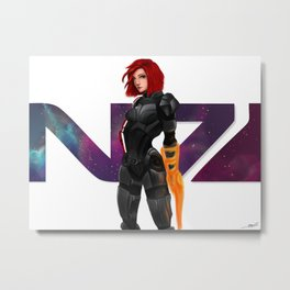 I am Commander Shepard FAN ART Metal Print