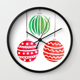 Christmat ornaments Wall Clock