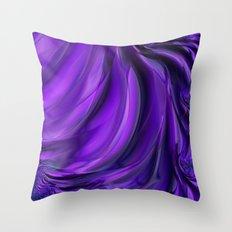 Purple Drapes Throw Pillow