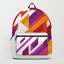 Array Of Triangles Geometric Patterns Backpack
