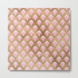 Distressed Autumn Pattern Metal Print