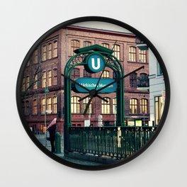Subway 1 Wall Clock
