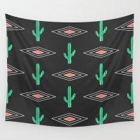 navajo Wall Tapestries featuring Navajo Saguaro by Mark Baker-Sanchez