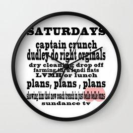 Definition of Saturday #2 Wall Clock