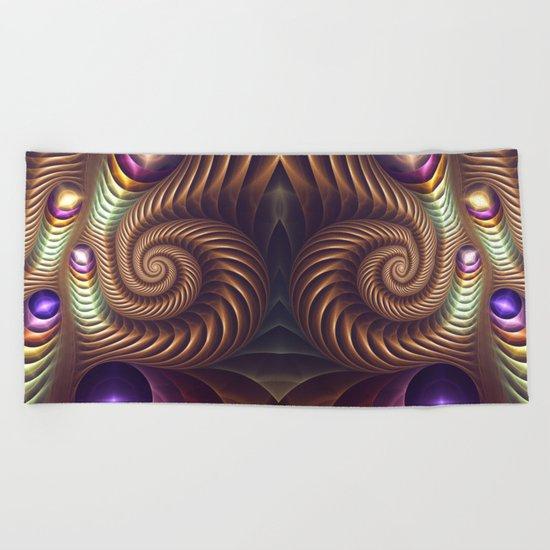 The Golden Spiral Beach Towel