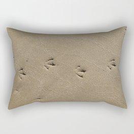 Barwon Heads Print | Bellarine Peninsula | Footprints in the Sand | Nature Art Print Rectangular Pillow