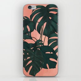 sunset monstera iPhone Skin