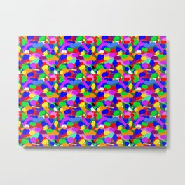 Paint Splodge Colour Abstract Metal Print