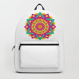 Mandala Yoga Massage Meditation Esoteric Symmetrical Art Gift Backpack