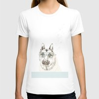 diver T-shirts featuring Diver Dog by Cecilia Sánchez