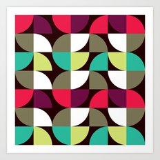 Quater circle shape pattern Art Print