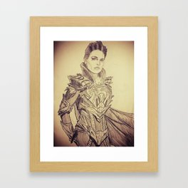 A Strange Visitor from another Planet... Framed Art Print