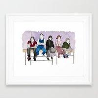 the breakfast club Framed Art Prints featuring The Breakfast Club by DJayK