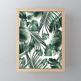 Tropical Jungle Leaves Dream #7 #tropical #decor #art #society6 Framed Mini Art Print