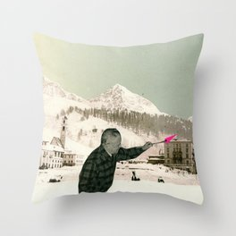 The Painter Throw Pillow