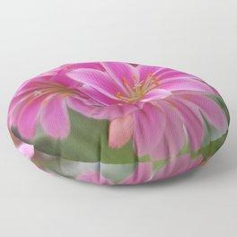 Tina's Garden: Pink Flower Floor Pillow