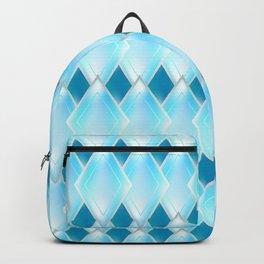 Glass-effect blue pattern Backpack