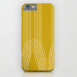 Curves and Line in Golden Mustard Yellow iPhone Case