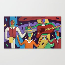 Dinner with Mexican Music Canvas Print