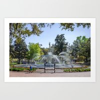 A Day at the Park Art Print