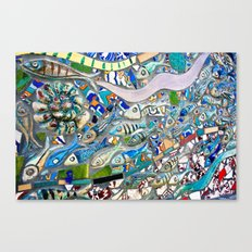 Venice Beach Bathroom Art Canvas Print