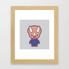 Dino Cop Framed Art Print