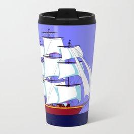 A Clipper Ship Full Sail in Still Waters Travel Mug