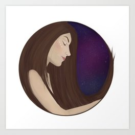 You're a voice singing me to sleep Art Print