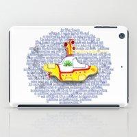 submarine iPad Cases featuring Yellow Submarine by Anaïs Rivola