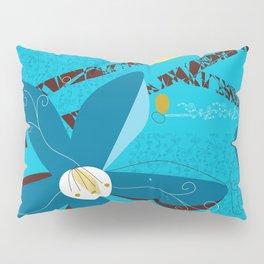 Blue Saucer Magnolia Pillow Sham