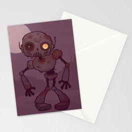Rusty Zombie Robot Stationery Cards