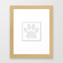 Dog Paw Print Cut Out Framed Art Print