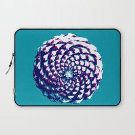 pine cone in aqua, purple and indigo Laptop Sleeve