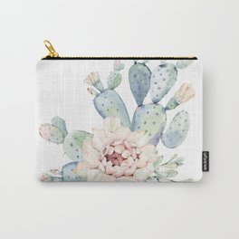 Perfect Cacti Rose Carry-All Pouch