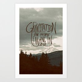 Gravitation Art Print