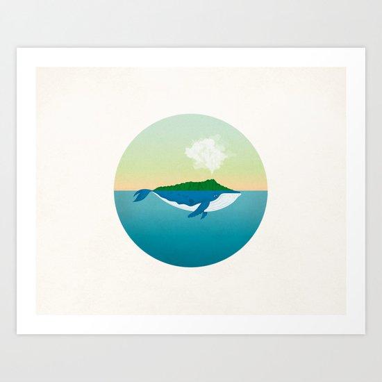 Hawaii Whale Art Print