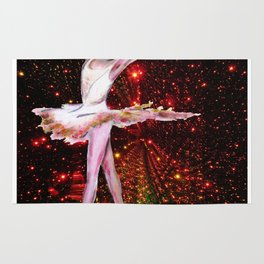 Cosmic Dancer , female figure dance art and stars Rug