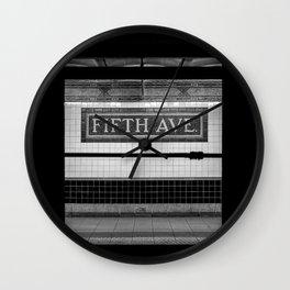 Fifth Ave Subway Wall Clock