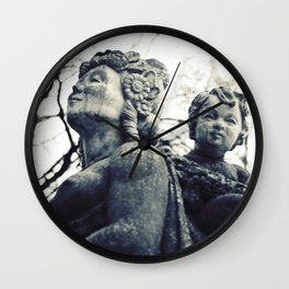 Marble portrait bust Wall Clock