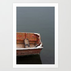 Red Dingy Art Print