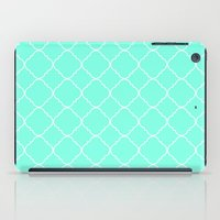 moroccan iPad Cases featuring Mint Moroccan by Beautiful Homes