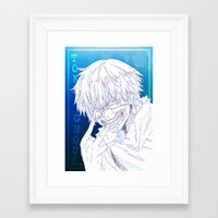 tokyo ghoul Framed Art Prints featuring Tokyo Ghoul  by Neo Crystal Tokyo