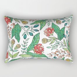 Wildflower Pattern - Full Color Rectangular Pillow