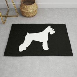 Schnauzer silhouette dog breeds custom dog lover t shirt minimal Rug