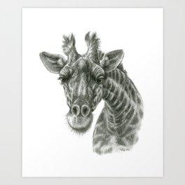 The giraffe G2012-049 Art Print