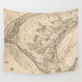 Vintage Map of Provincetown (1836) Wall Tapestry