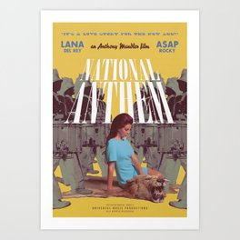 National Anthem music video poster Art Print