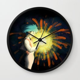 Howl Caught a Falling Star! Wall Clock