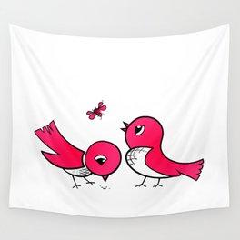 Cute little birds Wall Tapestry