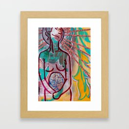 """Fearless Womb"" Framed Art Print"